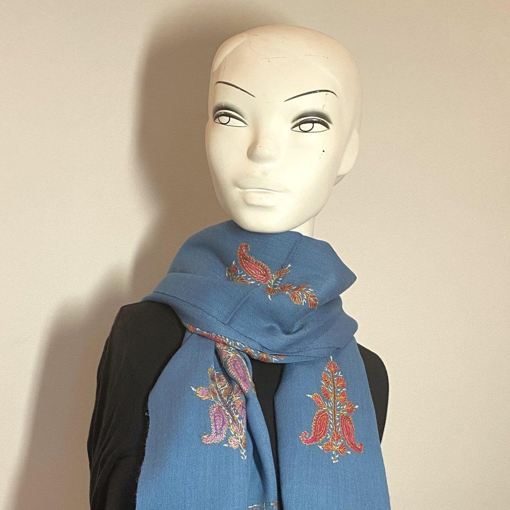 Blue Double Wool Shawl