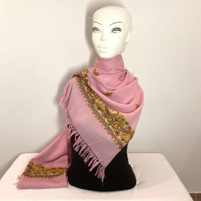 Flamingo Wool Shawl