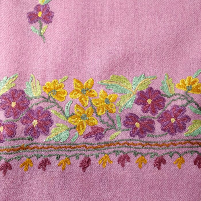 A Pink Classic Wool Shawl