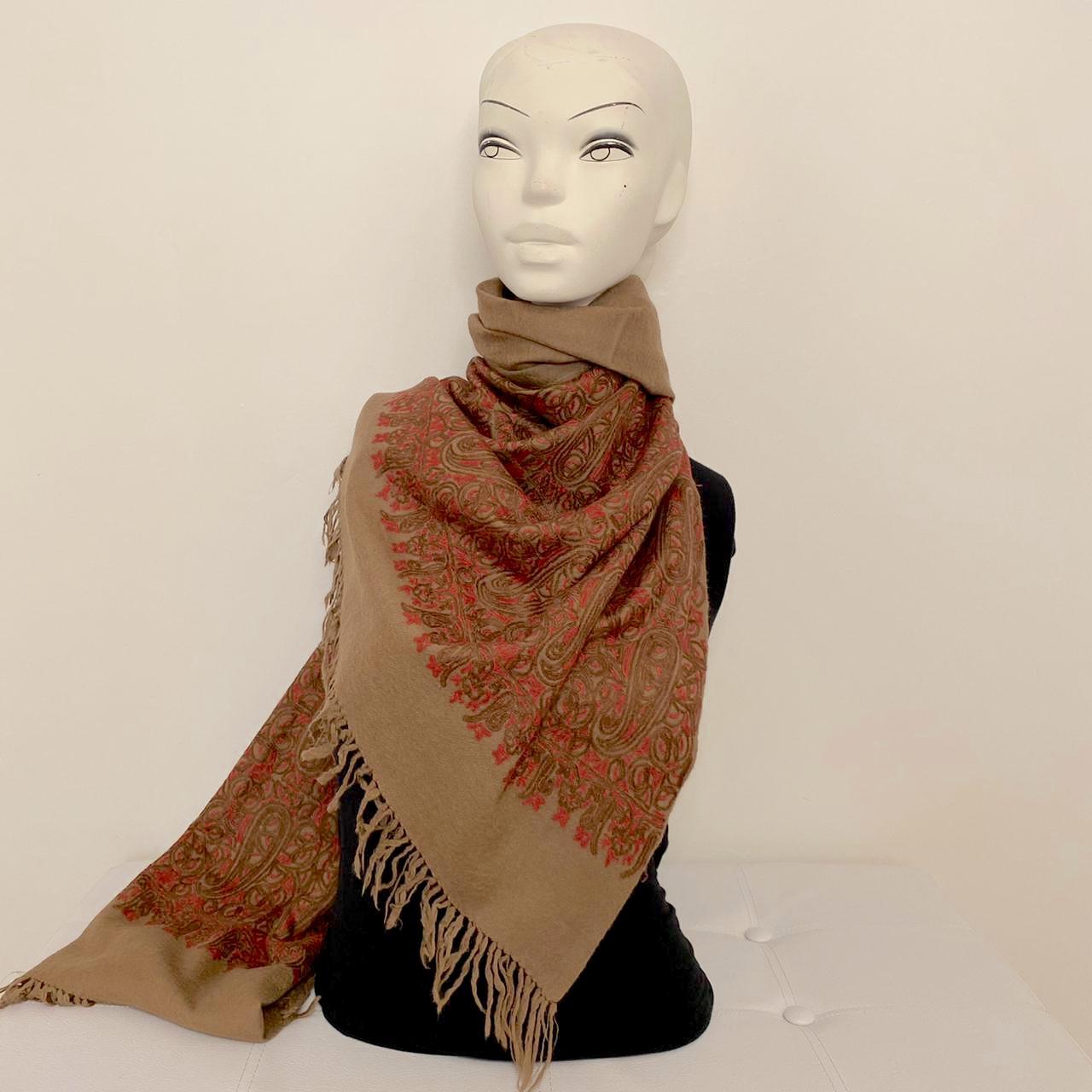 Eartha wool shawl