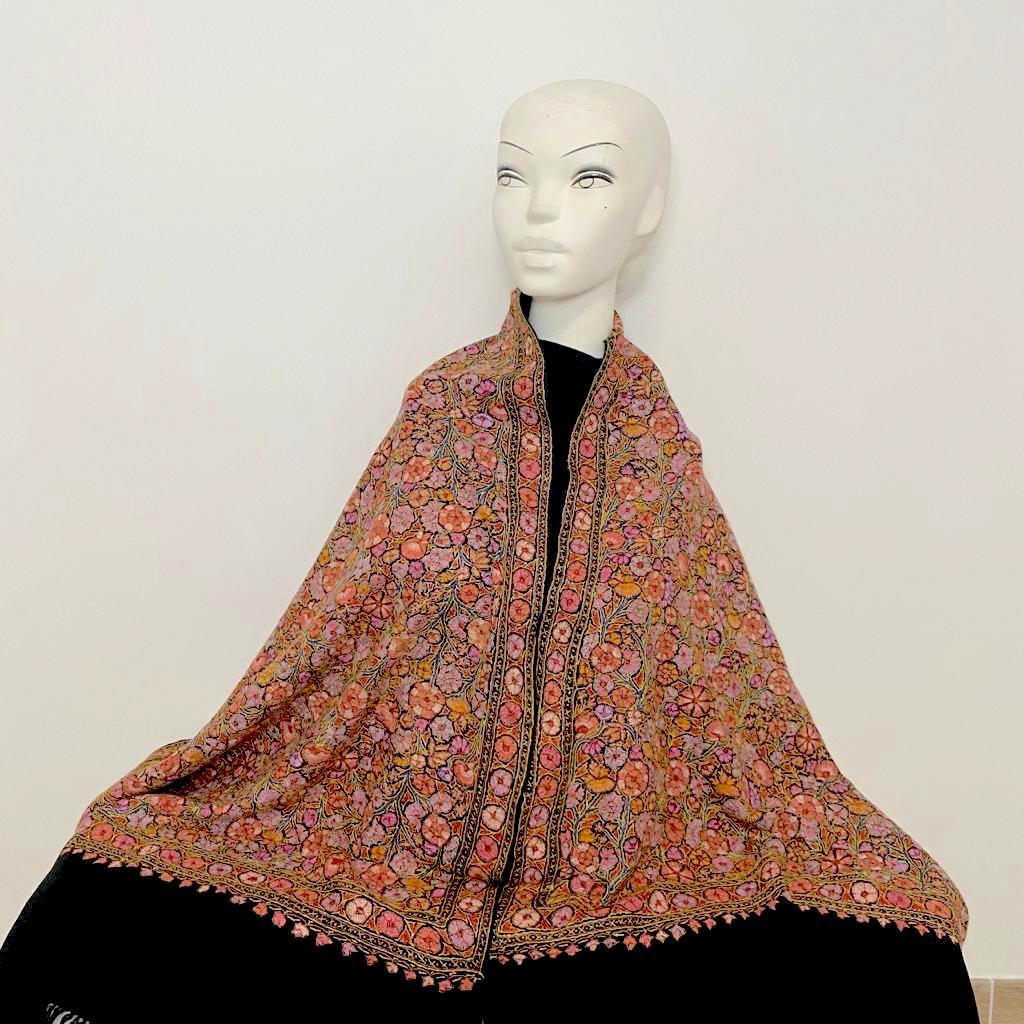 Aeris black wool shawl