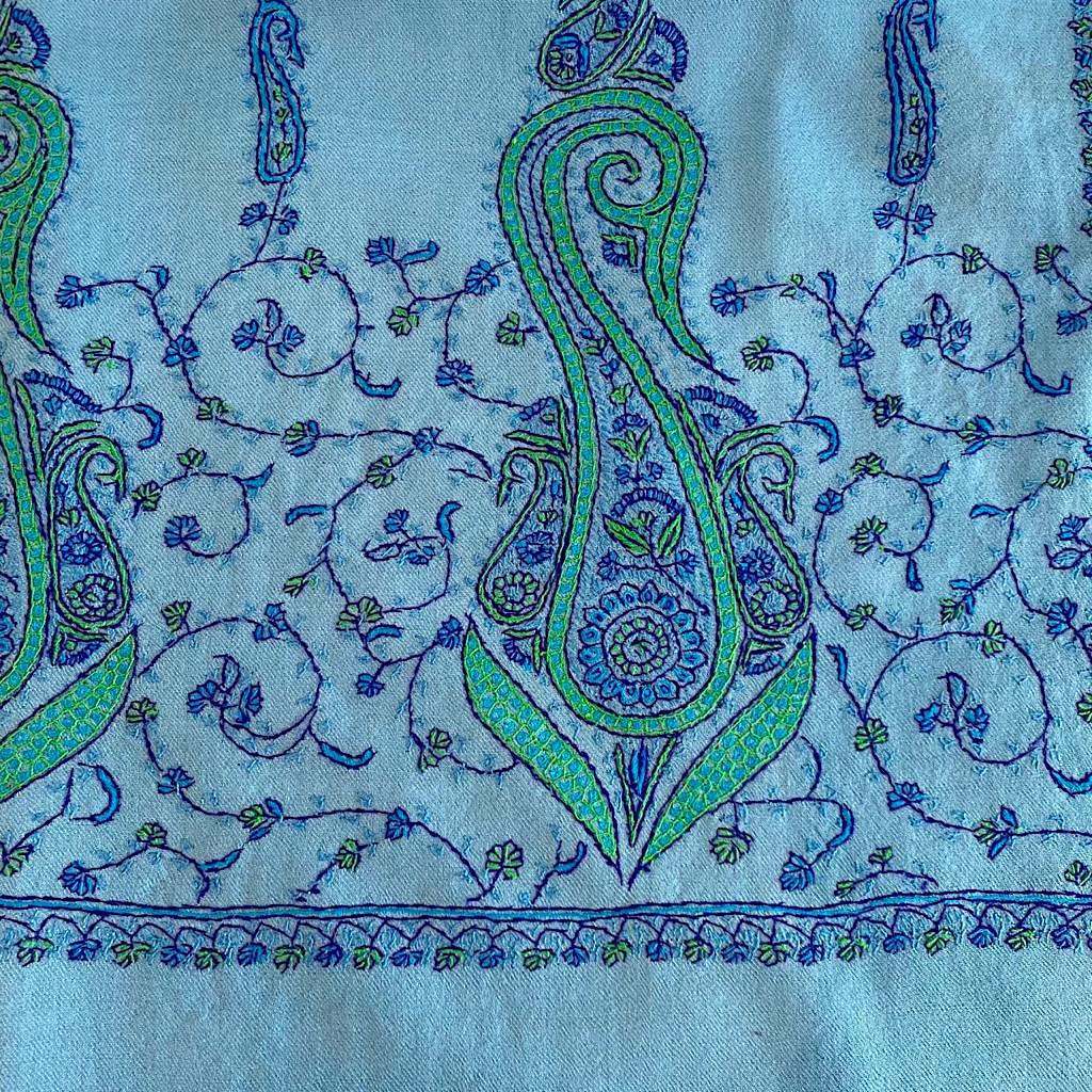 Azul wool shawl