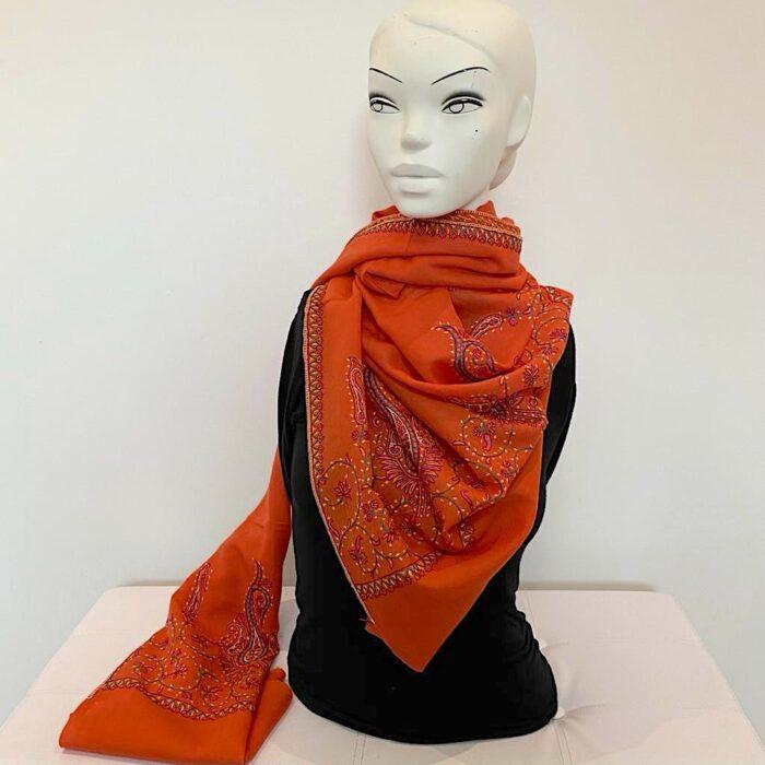 Mikan wool shawl