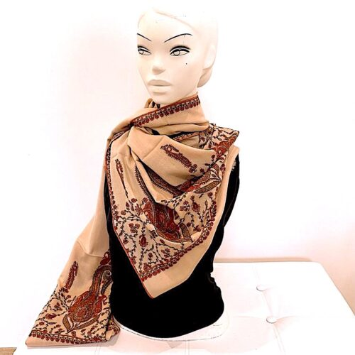 Zaila wool shawl